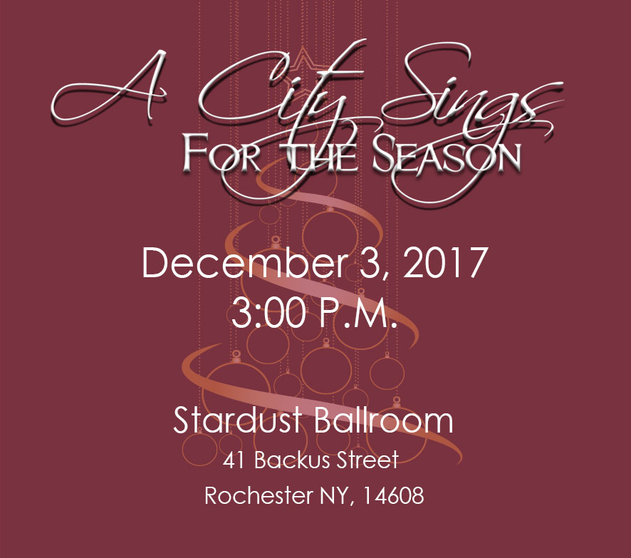 'A CITY SINGS FOR THE SEASON' AT STARDUST BALLROOM
