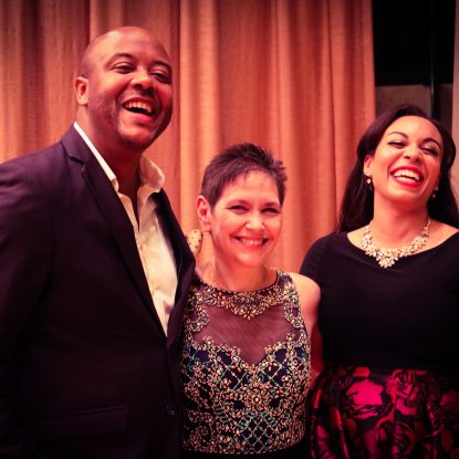 Jorrell Williams, Julie Figueras, and Christine Lyons at the 12th Annual Rochester International Vocal Competition