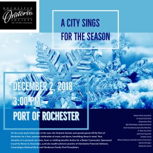 A City Sings for the Season 2018 Holiday Concert Tile with Snowflakes